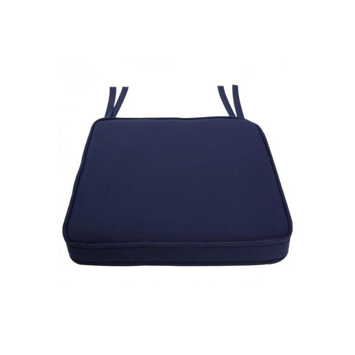Visuel Galette De Chaise Bleu Marine