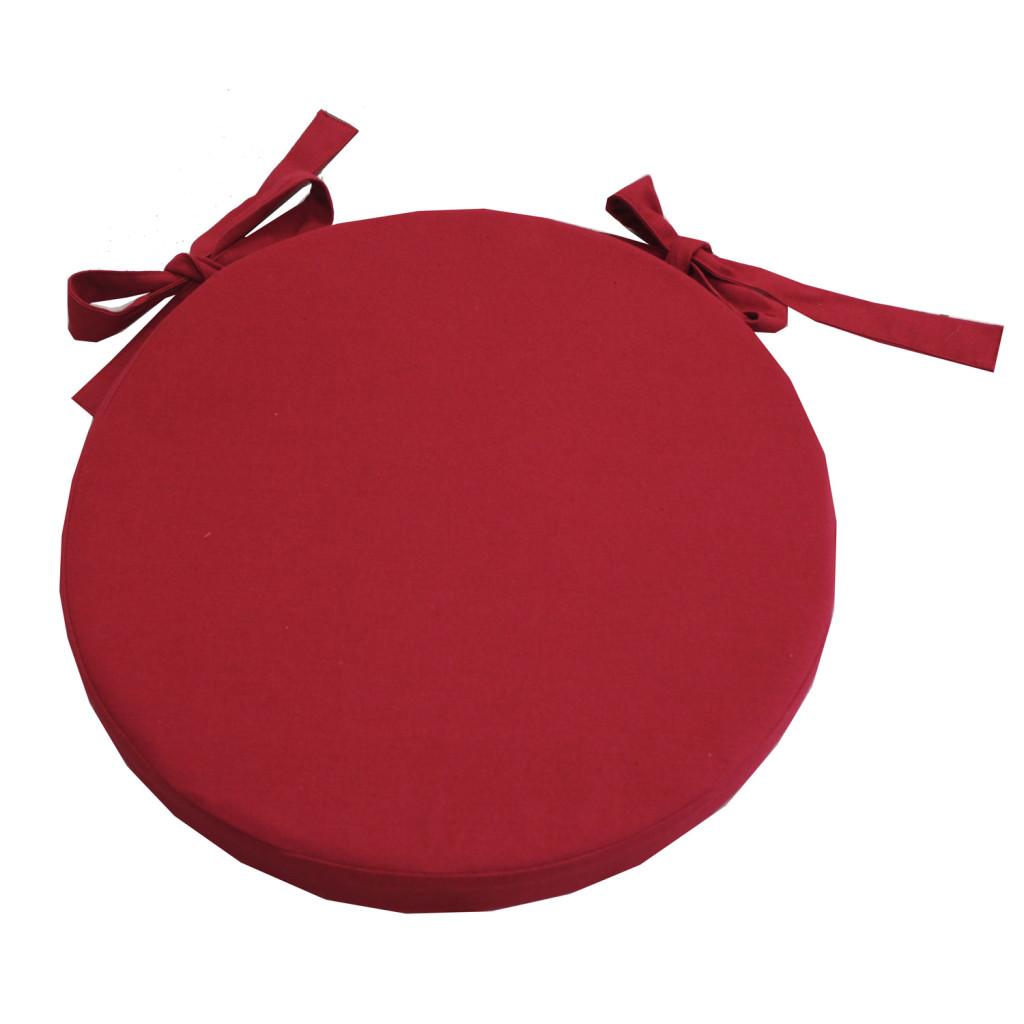 galette de chaise ronde rouge. Black Bedroom Furniture Sets. Home Design Ideas