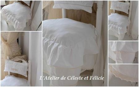 Galette de chaise style romantique - Galette de chaise style campagne ...