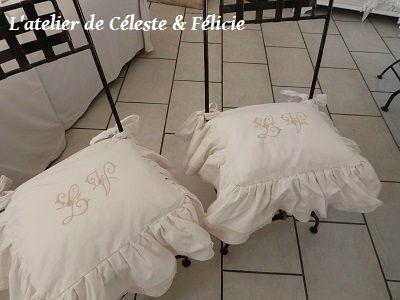 Galette de chaise style romantique - Galette de chaise volantee ...