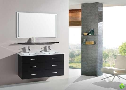 meuble 2 vasques pas cher. Black Bedroom Furniture Sets. Home Design Ideas