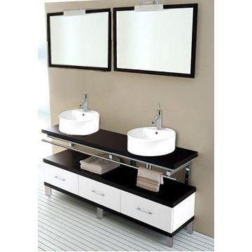 meuble salle de bain sur pied sans vasque