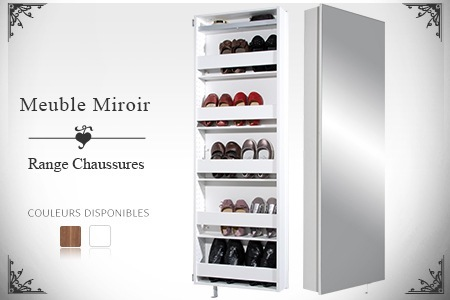 meuble chaussure miroir groupon. Black Bedroom Furniture Sets. Home Design Ideas