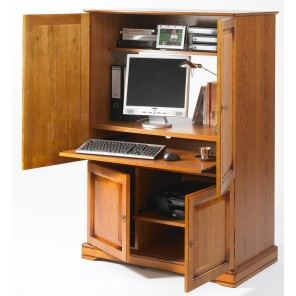 Meuble de bureau fermant a cle for Meuble haut bureau