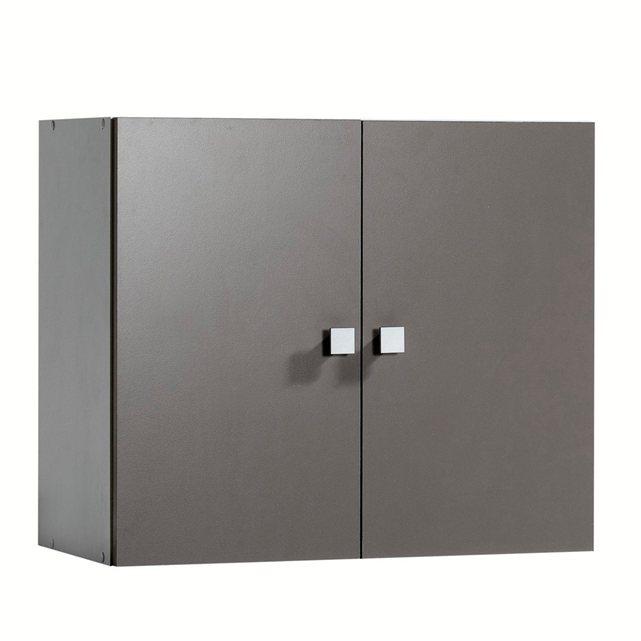 meuble haut de salle de bain 2 portes a suspendre