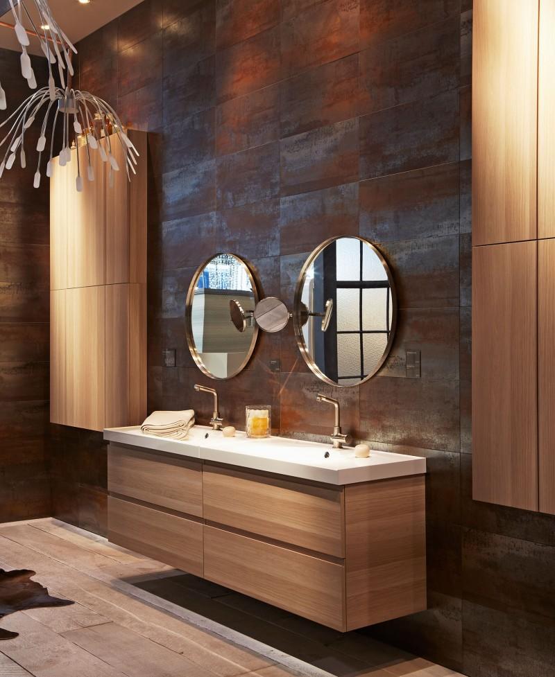 Tagre Salle De Bain Ikea Meuble Lavabo Tiroirs Godmorgon Odensvik - Meuble de salle de bain en bois naturel