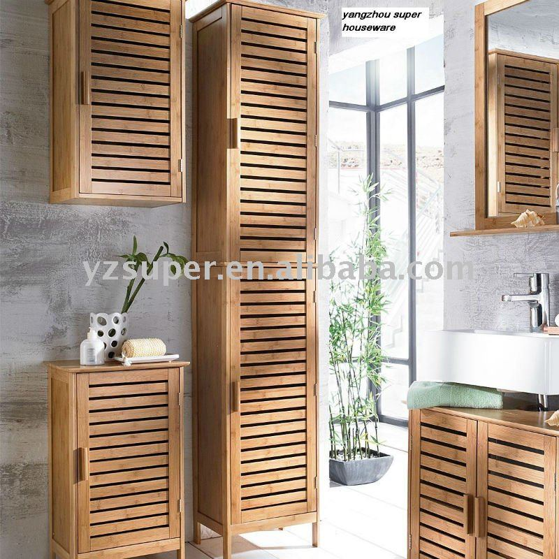 meuble haut salle de bain en bambou. Black Bedroom Furniture Sets. Home Design Ideas