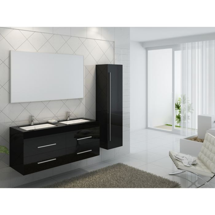 meuble salle de bain double vasque pas cher. Black Bedroom Furniture Sets. Home Design Ideas