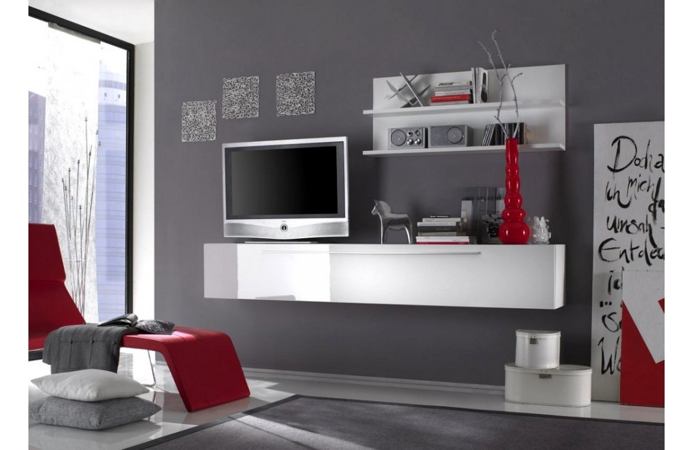 meuble tv bas mural. Black Bedroom Furniture Sets. Home Design Ideas