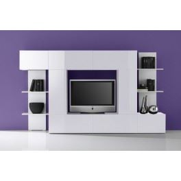 meuble tv blanc design pas cher. Black Bedroom Furniture Sets. Home Design Ideas