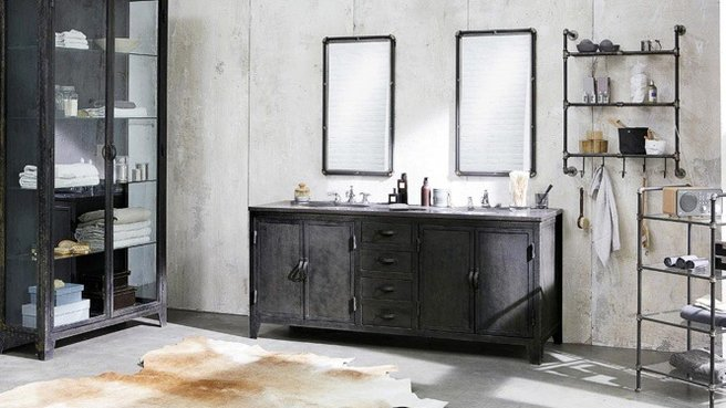 meuble vasque industriel. Black Bedroom Furniture Sets. Home Design Ideas