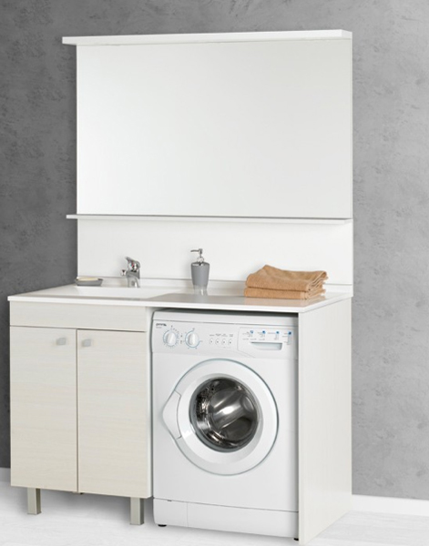 Id e meuble vasque lave linge for Meuble pour machine a laver