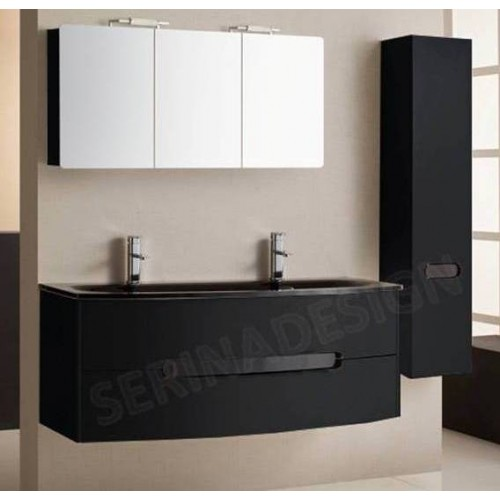 meuble salle de bain noir double vasque id es novatrices. Black Bedroom Furniture Sets. Home Design Ideas