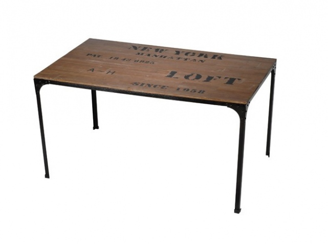 Id e table a manger industrielle pas cher for Table basse industrielle pas cher