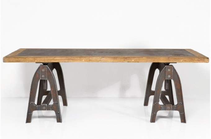 Trouver table a manger industrielle pas cher for Table a diner industrielle