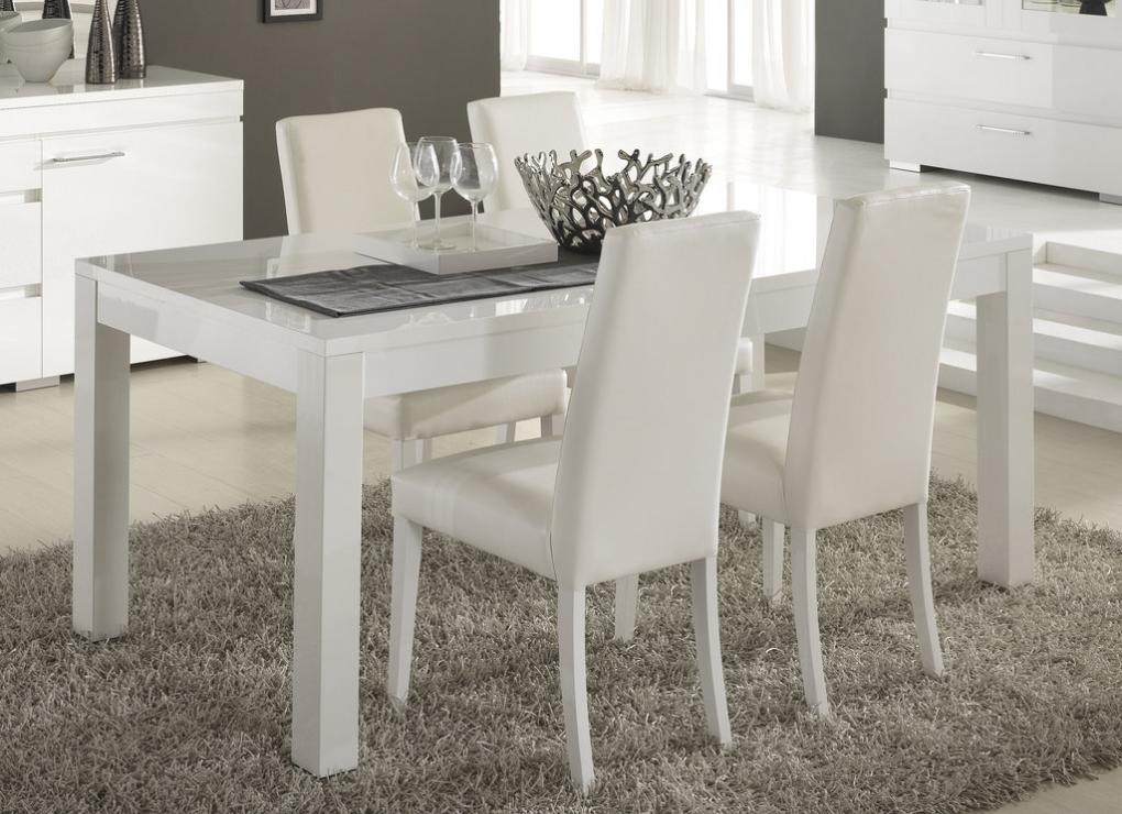 Table a manger laque blanc for Meuble design table salle a manger
