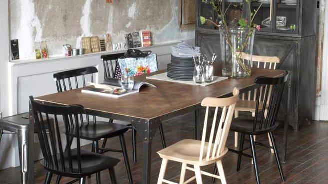 Salle manger usine for Table style usine
