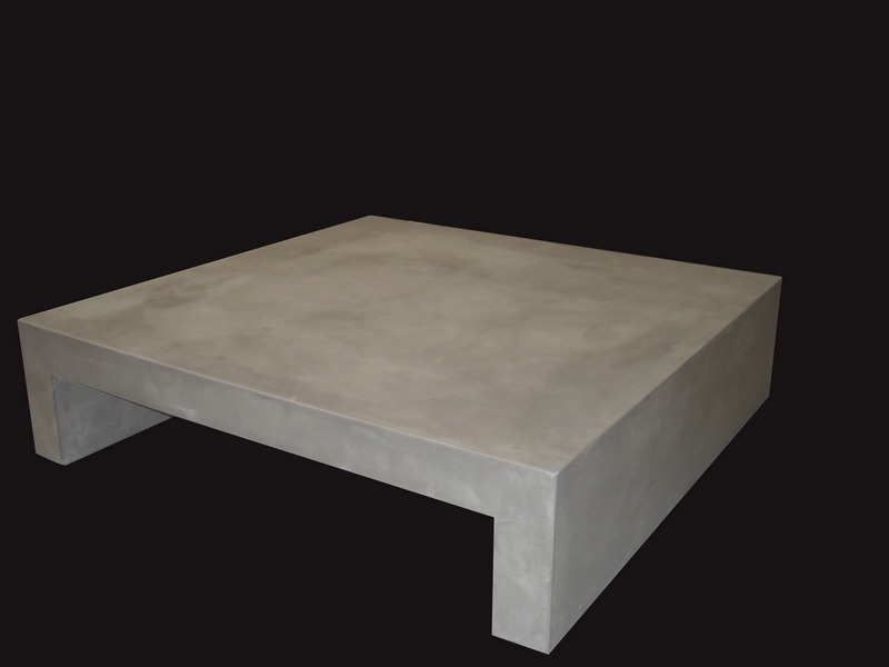 Table basse beton for Table basse effet beton