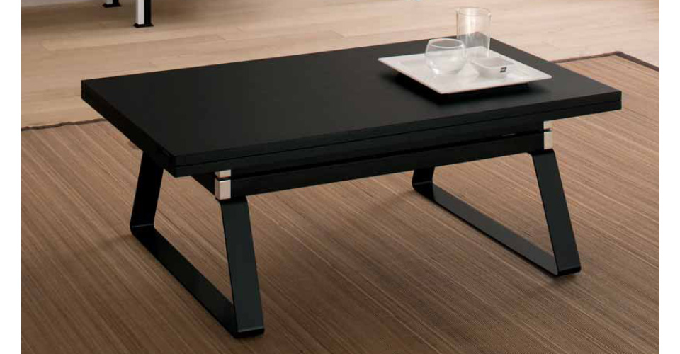 table basse convertible table haute maison design. Black Bedroom Furniture Sets. Home Design Ideas