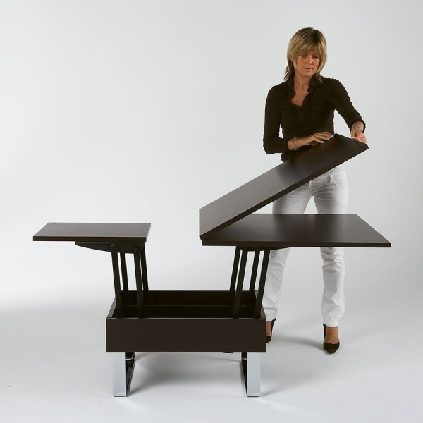 Table basse convertible - Table salon transformable ...