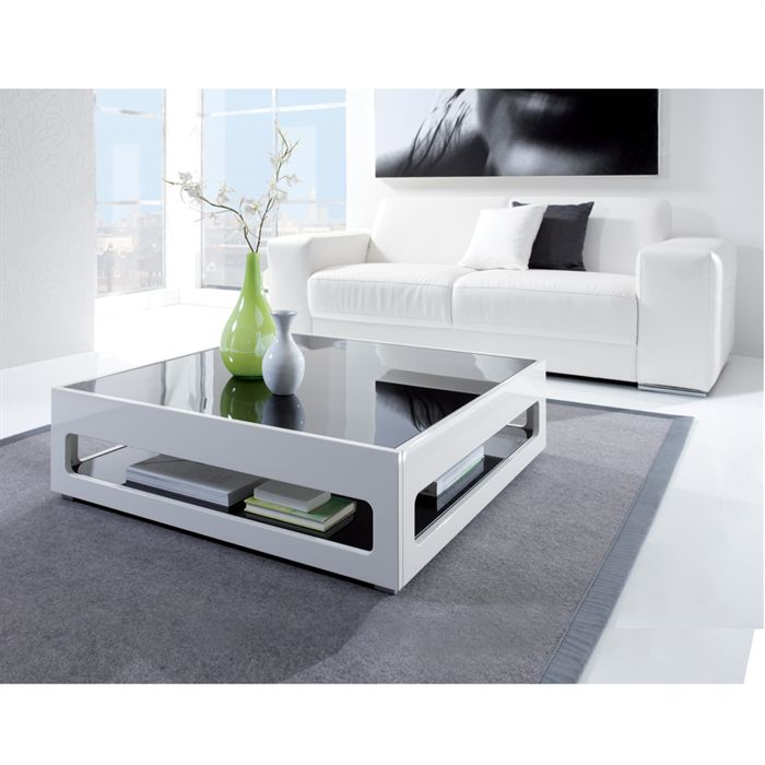Table basse en verre cdiscount - Table basse contemporaine en verre ...