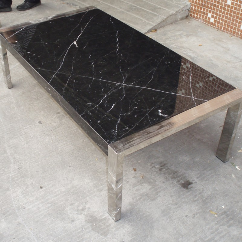 Mobilier table Table basse marbre design -> Table Basse Chene Clair Et Marbre
