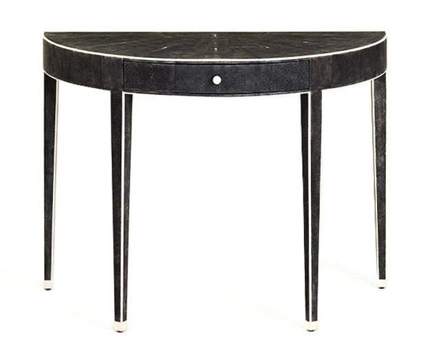 table console demi lune. Black Bedroom Furniture Sets. Home Design Ideas