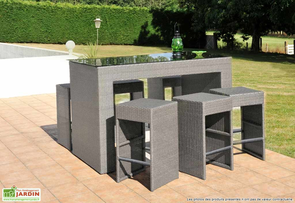 table bar de jardin