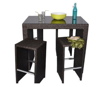table de bar d 39 exterieur. Black Bedroom Furniture Sets. Home Design Ideas
