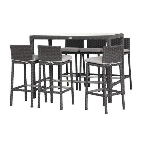 Table de bar exterieur for Table de terrasse pas cher