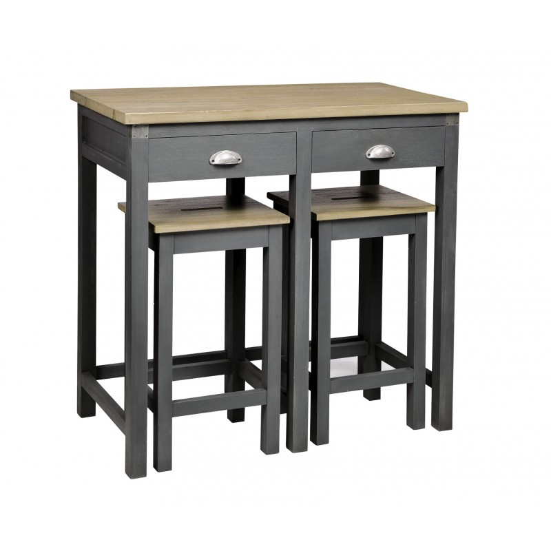 Visuel table de bar metro for Table et tabouret bar