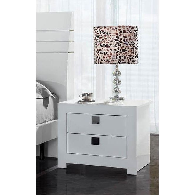table de chevet design laque blanc. Black Bedroom Furniture Sets. Home Design Ideas