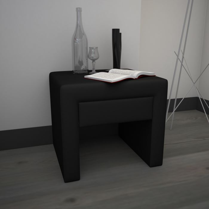 table de chevet noir pas cher. Black Bedroom Furniture Sets. Home Design Ideas