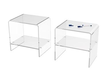 table de chevet transparente. Black Bedroom Furniture Sets. Home Design Ideas