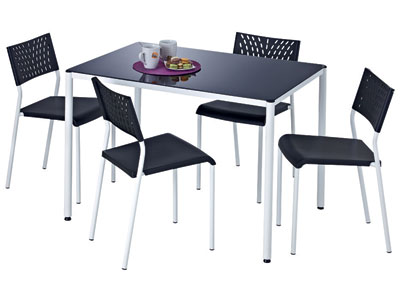 Table de cuisine avec chaise mobilier sur enperdresonlapin for Tables cuisine conforama