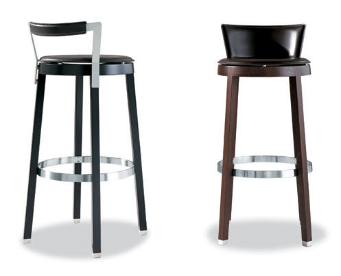 tabouret de bar en cuir. Black Bedroom Furniture Sets. Home Design Ideas