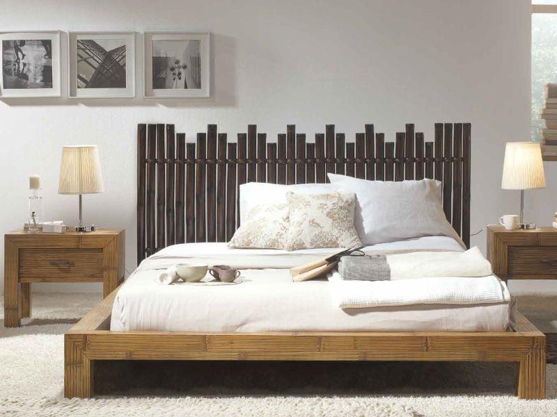 exemple tete de lit bambou