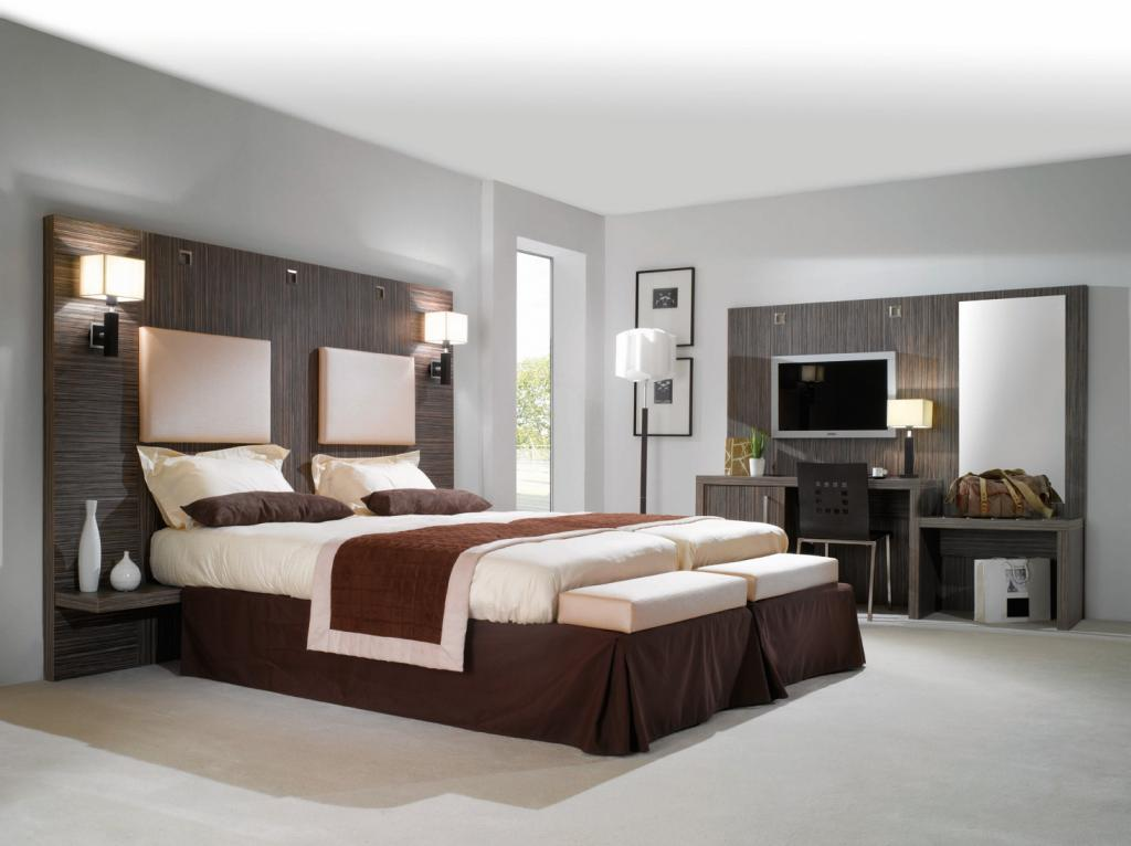 lit bois moderne. Black Bedroom Furniture Sets. Home Design Ideas