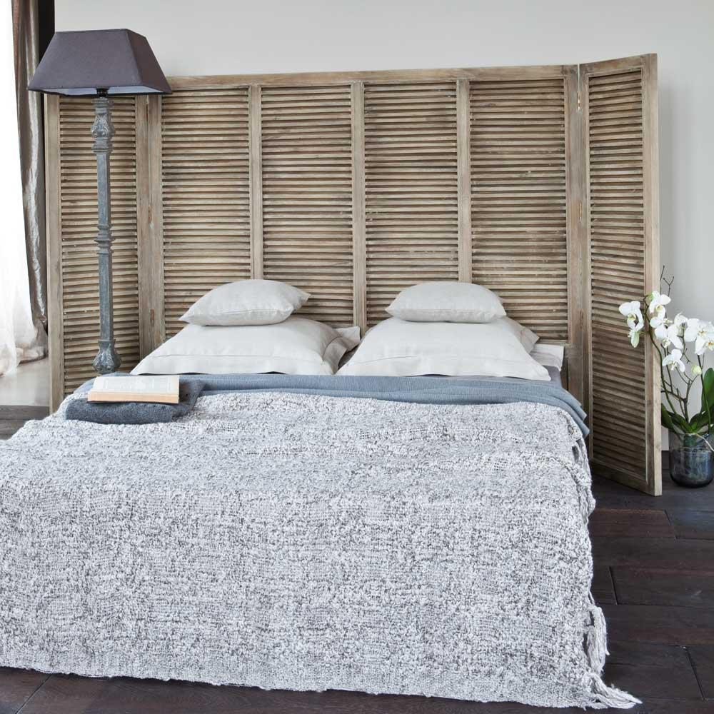 tete de lit persienne bois. Black Bedroom Furniture Sets. Home Design Ideas