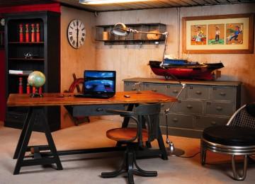 Armoire de bureau style industriel - Bureau loft industriel ...