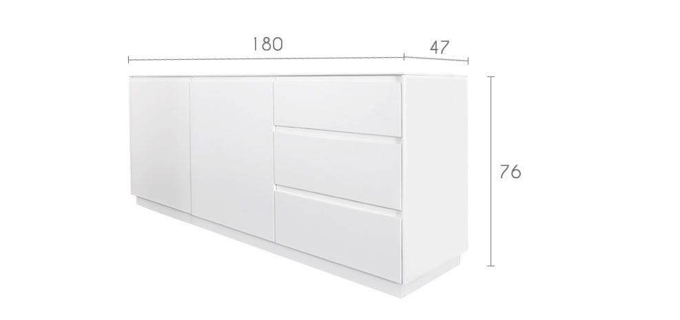 Buffet blanc laque but - Meuble bas laque blanc ikea ...
