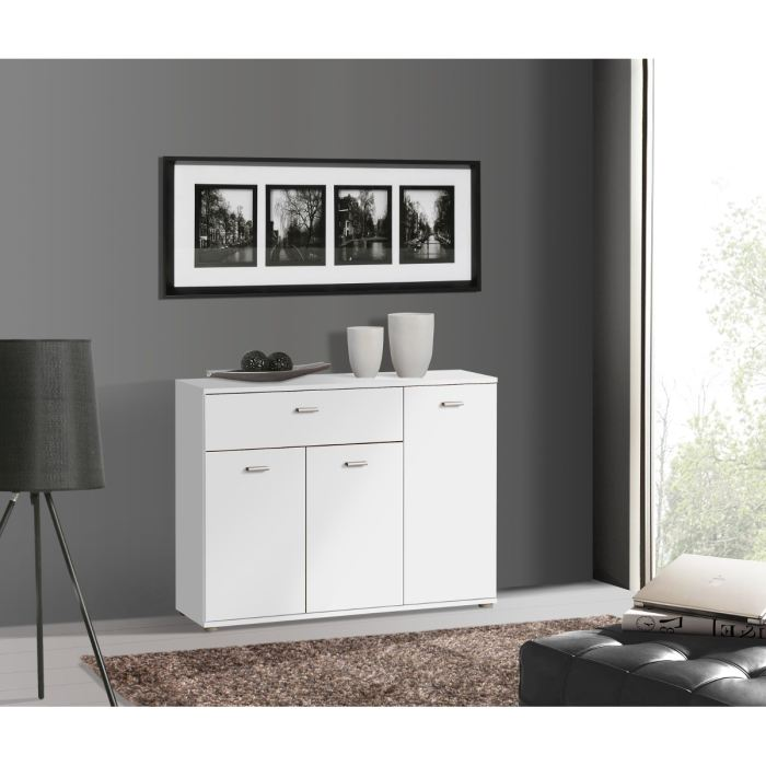 comparatif buffet bas laque blanc pas cher. Black Bedroom Furniture Sets. Home Design Ideas