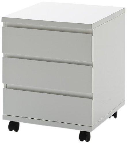 caisson de bureau laque blanc. Black Bedroom Furniture Sets. Home Design Ideas