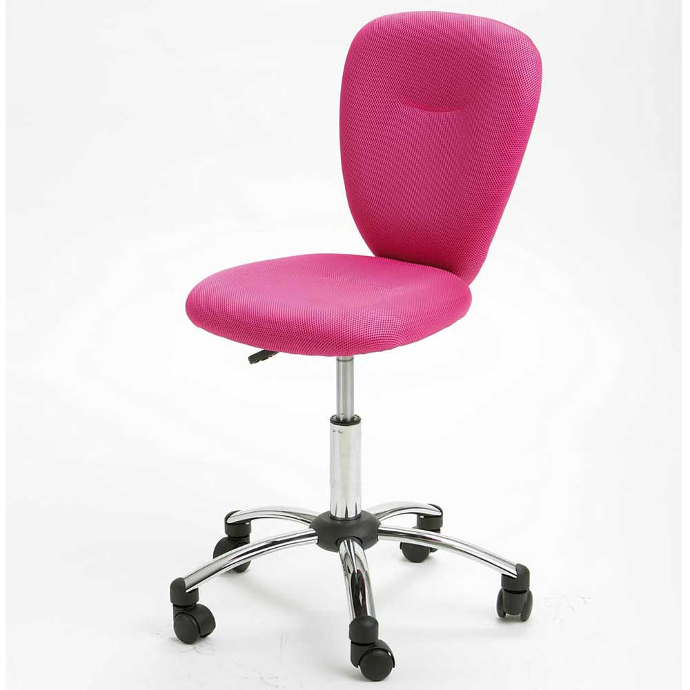 chaise de bureau fille rose