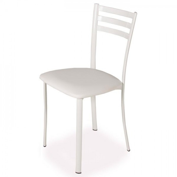 Chaise de cuisine blanc - Chaise de cuisine en cuir blanc ...