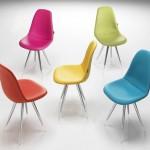 chaise de cuisine de couleur