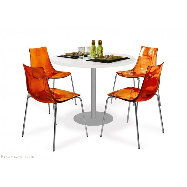 Chaise de cuisine orange for Chaise de cuisine design