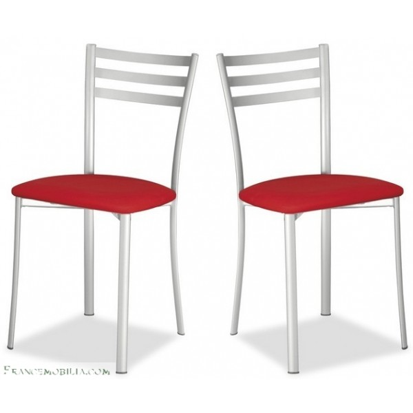 Chaise cuisine rouge pr l vement d - Table de cuisine chaise ...