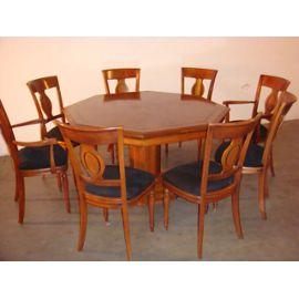 chaises de salle a manger merisier. Black Bedroom Furniture Sets. Home Design Ideas