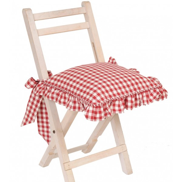 D co galette de chaise ronde impermeable dehoussable for Galette de chaise 45x45